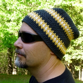 Cubed Hat Relaxed Beanie 2 crochet patterns in 1 by Darleen Hopkins