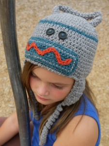 Robot Hat  crochet pattern by Darleen Hopkins, photo by Brittany Tyler.