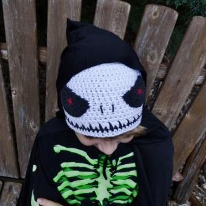 Crocheted Skull Hat