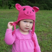 Halloween Pig Hat Crocheted