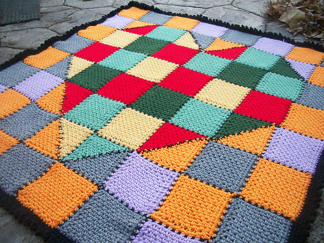 New pattern-Made with Love, Heart Baby Blanket, a STASH Buster ...