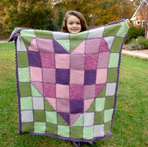Stash Buster Crochet Pattern Heart Blanket or Throw by Darleen Hopkins