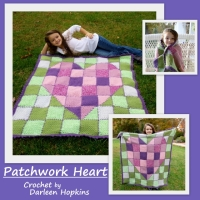 Patchwork Heart Baby Blanket, $4.99