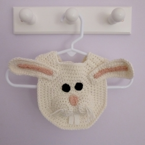 Bunny Rabbit Drool Spit Bib