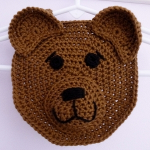 Baby Bear Drool Spit Bib crochet pattern by Darleen Hopkins