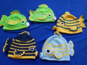 Fish Hat crochet pattern by Darleen Hopkins