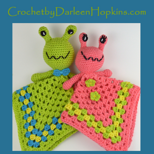 Alien baby lovey crochet pattern