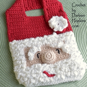 christmas-santa-baby-bib-crochet-pattern-by-darleen-hopkins #CbyDH