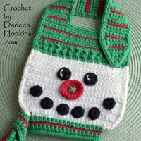christmas-snowman-baby-bib-crochet-pattern-by-darleen-hopkins #CbyDH