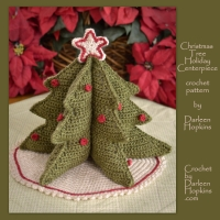 crochet pattern, Christmas Tree for your table top