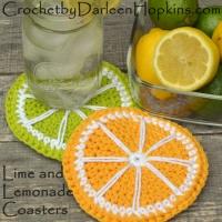 Lime and Lemonade coasters crochet pattern