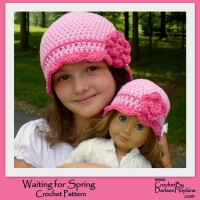 Crochet pattern by Darleen Hopkins http://www.ravelry.com/patterns/library/waiting-for-spring-flapper-hat-with-rose
