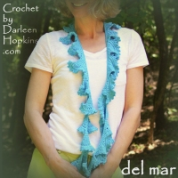 del mar crochet scarf pattern by Darleen Hopkins #CbyDH