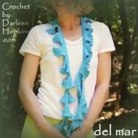 del mar crochet scarf pattern by Darleen Hopkins #CbyDH