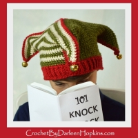 Court Jester or Elf crochet pattern by Darleen Hopkins #CbyDH