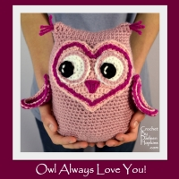 Owl crochet pattern amigurumi by Darleen Hopkins