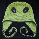 Roswell Alien Ear Flap Crochet Pattern