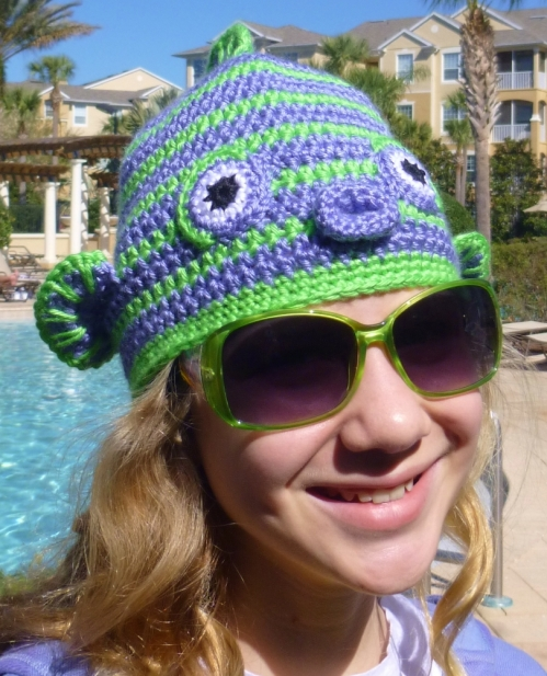 Kissy Fish Crochet hat pattern by Darleen Hopkins