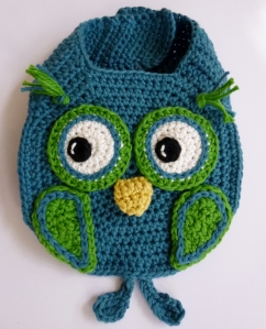 Owl Drool Bib crochet pattern by Darleen Hopkins