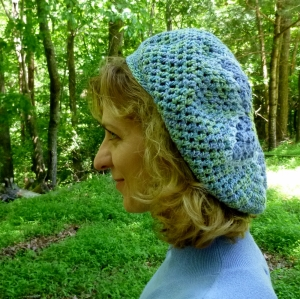 Stars and Flowers Slouch Hat crochet pattern by Darleen Hopkins