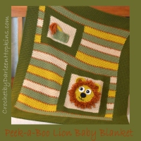 Lion baby Blanket crochet pattern