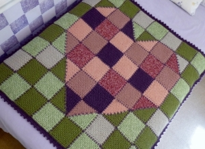 Patchwork Heart Blanket Throw crochet pattern by Darleen Hopkins