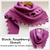 Shawl, Black Raspberry crochet pattern by Darleen Hopkins