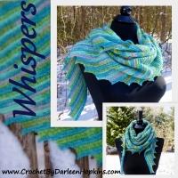 Whispers Shawl crochet pattern by Darleen Hopkins