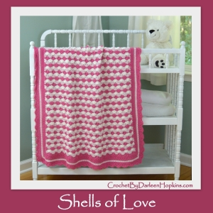 Shells of Love crochet baby blanket