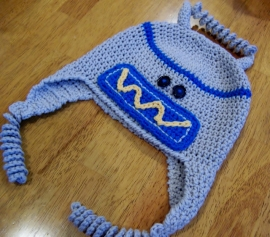 Mr. Springy, Robot Hat crochet pattern by Darleen Hopkins