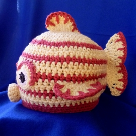 Kissy Fish hat crochet pattern by Darleen Hopkins