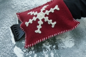 Snowflake Ice Scraper Mitt