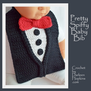 Pretty Spiffy Crochet pattern baby bib