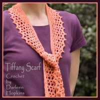 Tiffany Lace Scarf crochet pattern by Darleen Hopkins