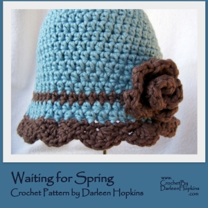 Waiting for Spring Crochet Pattern by Darleen Hopkins https://crochetbydarleenhopkins.com/patterns/hat-flapper-waiting-for-spring/
