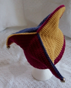 Hat-Court Jester, Joker, Elf Crochet By Darleen Hopkins