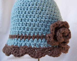 Waiting for Spring Cloche crochet pattern by Darleen Hopkins