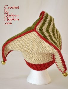 Court Jester hat or Elf crochet pattern by Darleen Hopkins