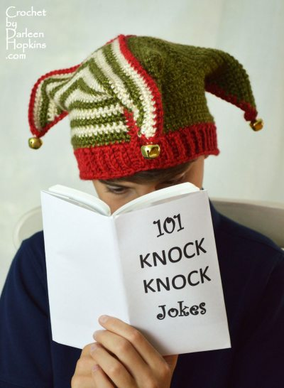 Court Jester, Elf, Joker, Clown, Fool crochet hat pattern by Darleen Hopkins #CbyDH