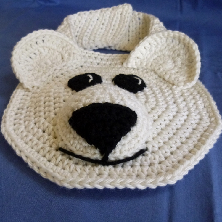 Bib Polar Bear And Penguin Crochet By Darleen Hopkins