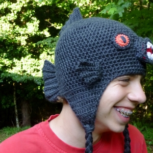 https://crochetbydarleenhopkins.com/patterns/hat-piranha-monster-fish/ Piranha Monster Fish crochet hat pattern by Darleen Hopkins