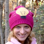 Lightbulb Thinking Cap crochet hat pattern by Darleen Hopkins #CbyDH