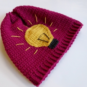 Thinking Cap or Bright Idea Hat (Lightbulb) crochet pattern by Darleen Hopkins