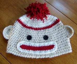 Sock Monkey Crochet Hat Pattern by Darleen Hopkins