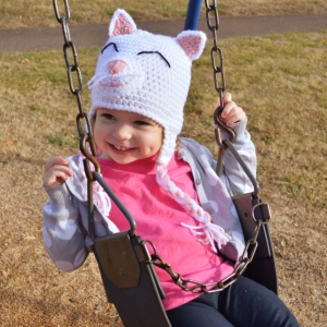 Kitty Cat Crochet Hat Pattern by Darleen Hopkins