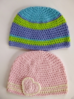 Based on Crazy Frog Hat crochet pattern by Darleen Hopkins