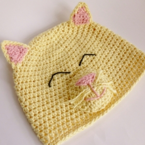 Happy Kitty Hat crochet pattern by Darleen Hopkins