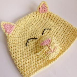 Happy Kitty Hat crochet pattern by Darleen Hopkins