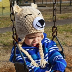 Puppy Dog Crochet Hat Pattern by Darleen Hopkins
