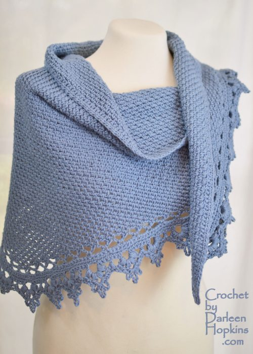 crochet pattern, Black Raspberry Shawl by Darleen Hopkins #CbyDH
